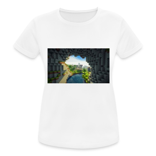 wallpapers minecraft hintergrundbilder 02 - Frauen T-Shirt atmungsaktiv