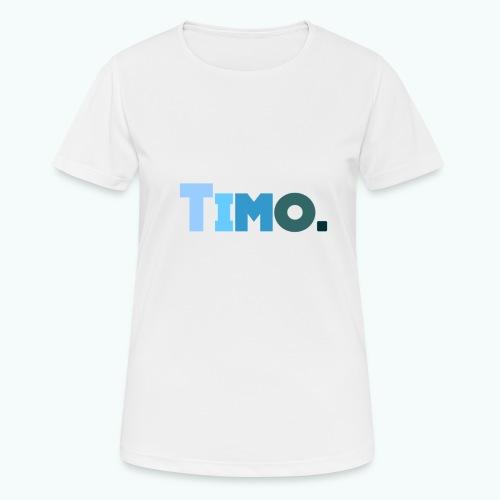 Timo in blauwe tinten - vrouwen T-shirt ademend