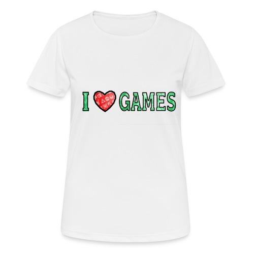 I Love Games - Koszulka damska oddychająca