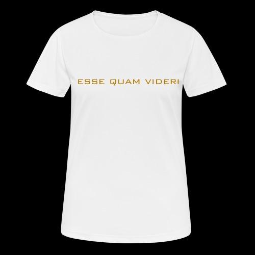 Esse Quam Videri - bronze - Women's Breathable T-Shirt
