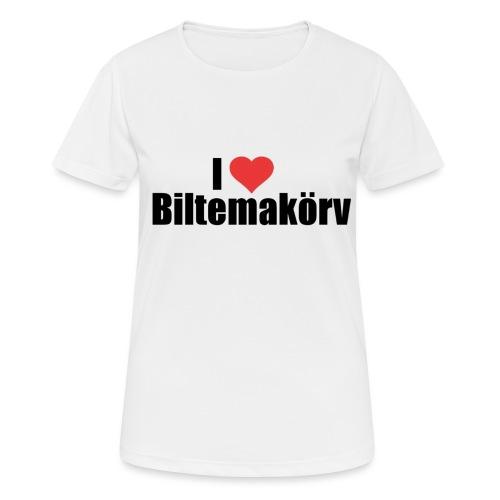 I Love Biltemakörv - Andningsaktiv T-shirt dam