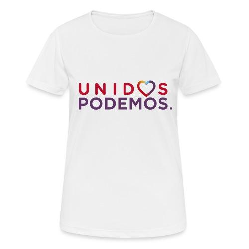 Taza Unidos Podemos 2016 Blanca - Camiseta mujer transpirable