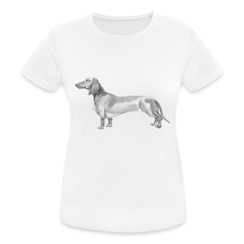 Dachshund smooth haired - Dame T-shirt svedtransporterende