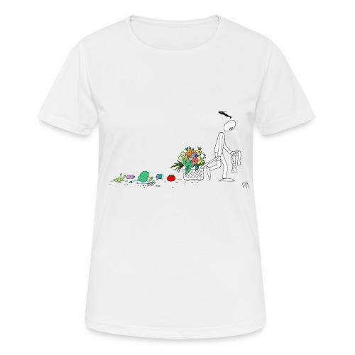 frukt og grønt handleveske - Pustende T-skjorte for kvinner