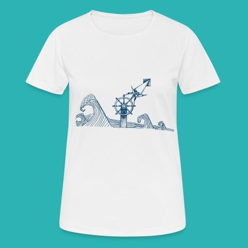 Carta_timone_blu-png - Maglietta da donna traspirante