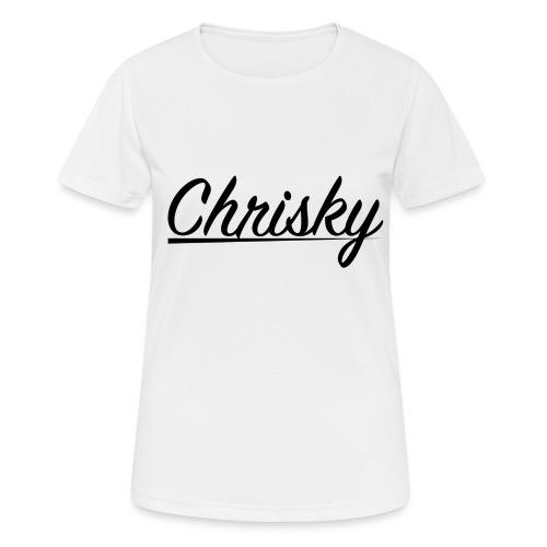 Chrisky Logo Schwarz - Frauen T-Shirt atmungsaktiv