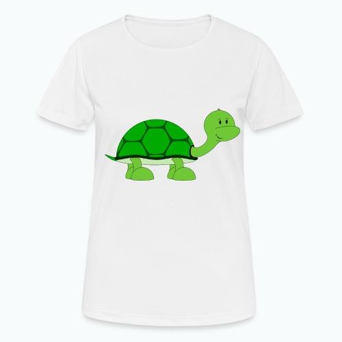 Totte Turtle - Appelsin - Andningsaktiv T-shirt dam