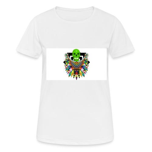 Colorfull skull - naisten tekninen t-paita