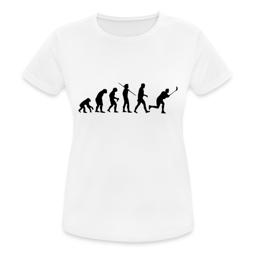 Floorball Evolution Black - Frauen T-Shirt atmungsaktiv