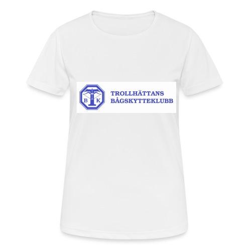 Piké Herr Slim - Tävlingströja med ryggtryck - Andningsaktiv T-shirt dam
