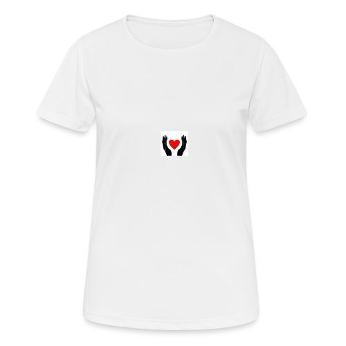 Schwarze Hände die rotes Herz halten - Frauen T-Shirt atmungsaktiv