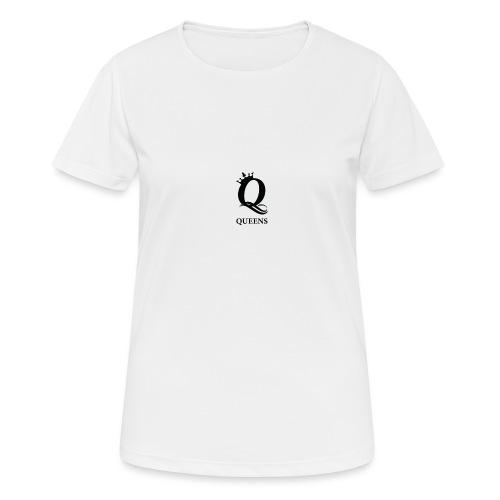 queens logo - Pustende T-skjorte for kvinner