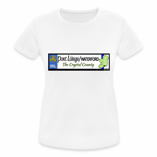 WATERFORD, IRELAND: licence plate tag style decal - Women's Breathable T-Shirt