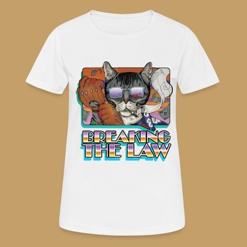 Crime Cat in Shades - Braking the Law - Koszulka damska oddychająca