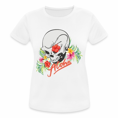Hawaiian Skull Aloha Surfer Design - Frauen T-Shirt atmungsaktiv