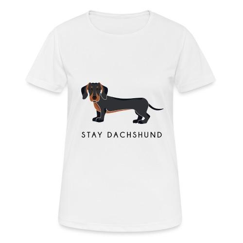 Dachshund Black - Maglietta da donna traspirante