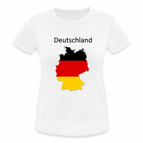 Deutschland Karte - Frauen T-Shirt atmungsaktiv