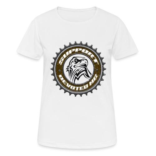 Sprocket Support - Pustende T-skjorte for kvinner