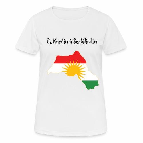 Ez kurdim u serbilindim - Andningsaktiv T-shirt dam