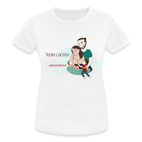 tee-shirt Team Lactée - T-shirt respirant Femme