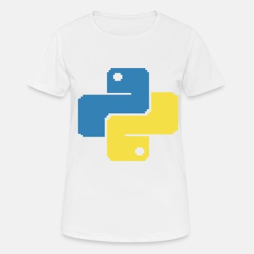 Python Pixelart - Frauen T-Shirt atmungsaktiv