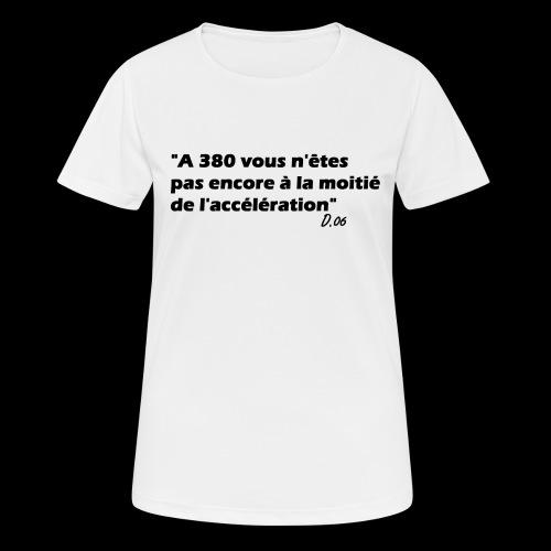 380 noir - T-shirt respirant Femme