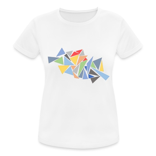 Modern Triangles - Women's Breathable T-Shirt