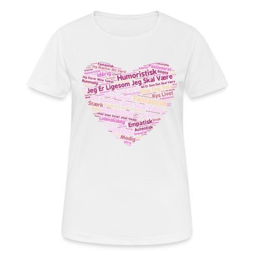 Hjerte - Dame T-shirt svedtransporterende
