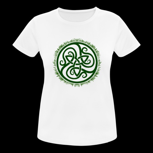 Green Celtic Triknot - Women's Breathable T-Shirt