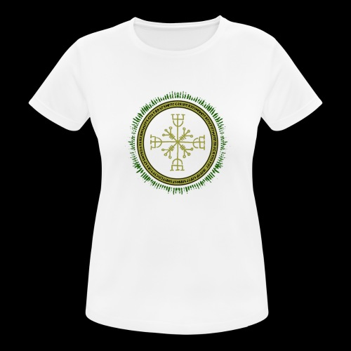 Norse Runes with Aegishjalmur 2017 - Women's Breathable T-Shirt