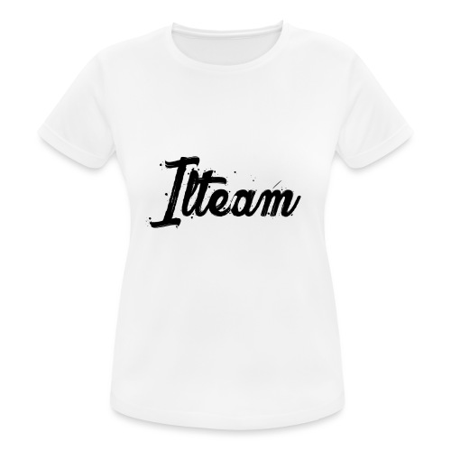 Ilteam Black and White - T-shirt respirant Femme