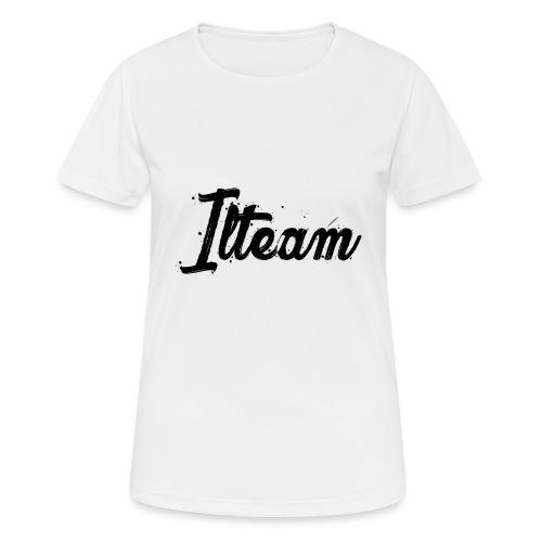 Ilteam Black and White - T-shirt respirant Femme