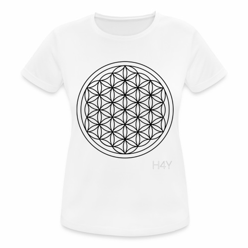 Flower Of Life - This Design Will Heal You - Dame T-shirt svedtransporterende