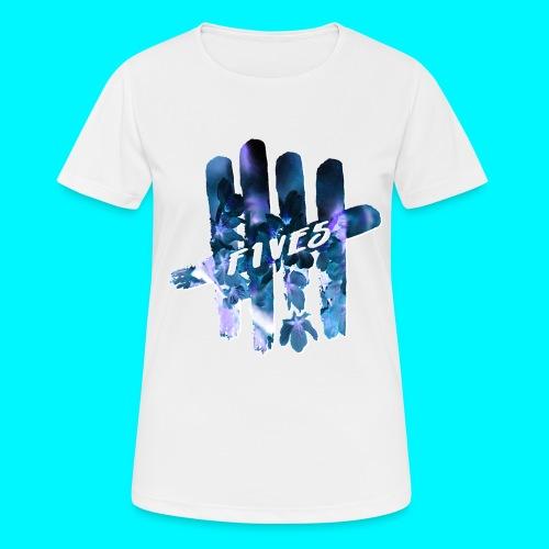 FIVES space flowers - T-shirt respirant Femme
