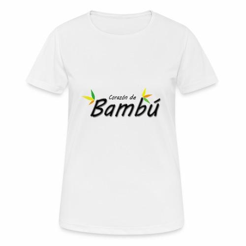 Corazón de bambú - Camiseta mujer transpirable
