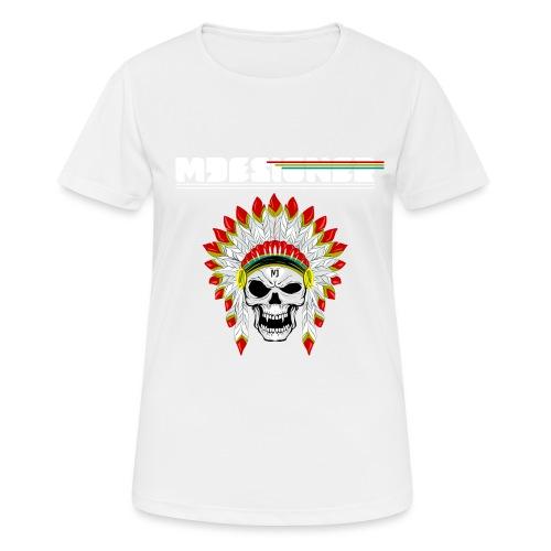 calavera o craneo con penacho de plumas vampiresco - Camiseta mujer transpirable