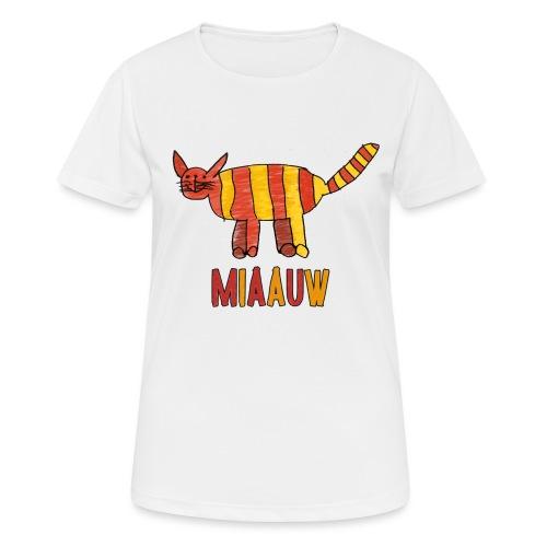 miaauw poesje - vrouwen T-shirt ademend