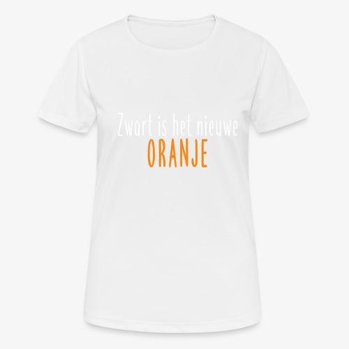 Zwart is het nieuwe oranje - Vrouwen T-shirt ademend actief