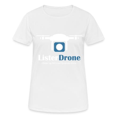 ListerDrone logo - Pustende T-skjorte for kvinner
