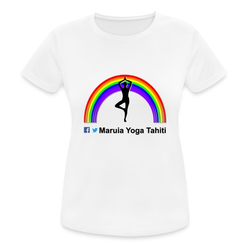 Logo de Maruia Yoga Tahiti - T-shirt respirant Femme