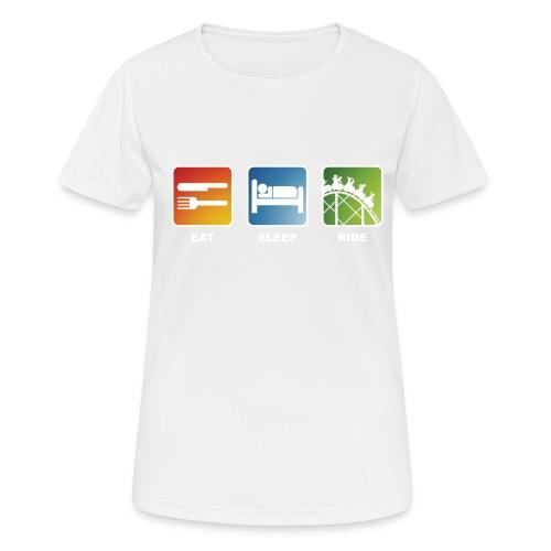 Eat, Sleep, Ride! - T-Shirt Schwarz - Frauen T-Shirt atmungsaktiv