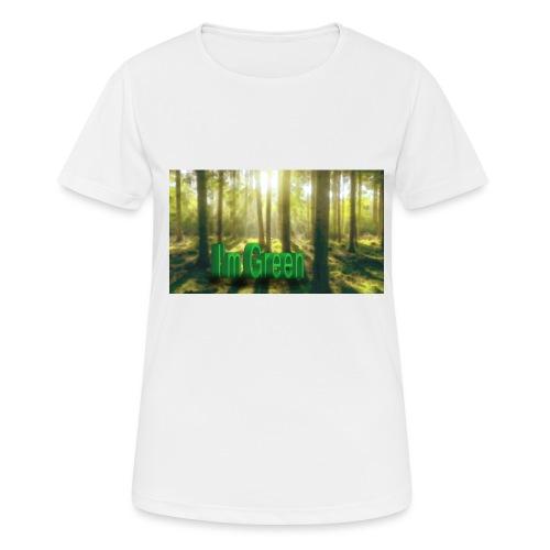 I'm Green. - Andningsaktiv T-shirt dam
