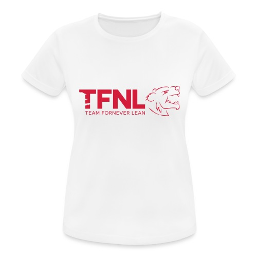 TFNL Red/Navy Logo Tee - Women's Breathable T-Shirt