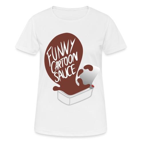 FUNNY CARTOON SAUCE - FEMALE - Women's Breathable T-Shirt