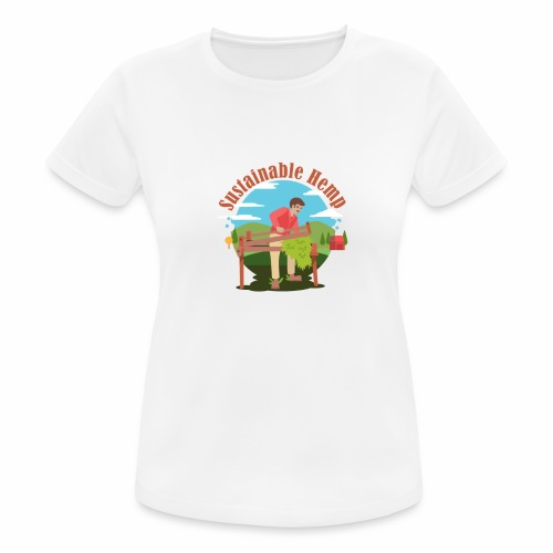 Cáñamo Sustentable en Inglés (Sustainable Hemp) - Camiseta mujer transpirable