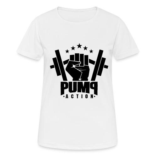 PUMP-ACTION LOGO BLACK - Frauen T-Shirt atmungsaktiv