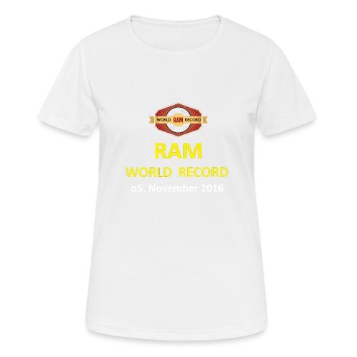 RWR gelb mit Datum (weiß) - Frauen T-Shirt atmungsaktiv