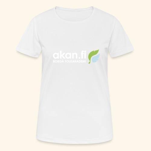Akan White - Andningsaktiv T-shirt dam