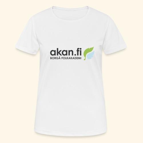 Akan Black - naisten tekninen t-paita