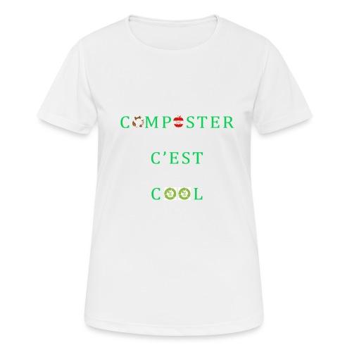 Composter C'est Cool - T-shirt respirant Femme